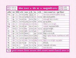 Panchang Calendars.